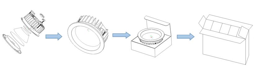 Diameter 190mm Five Years Warranty CE/RHOS Certification Flicker Free 30w