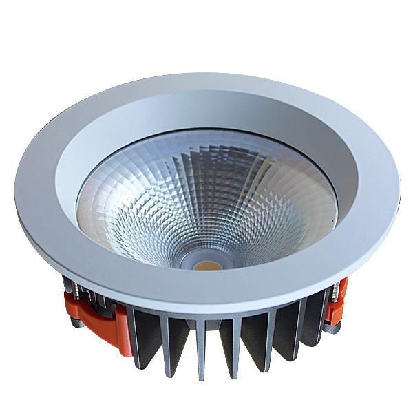 Dia Casting Aluminum 3500k IP44 60degree 40w COB LED Downlight