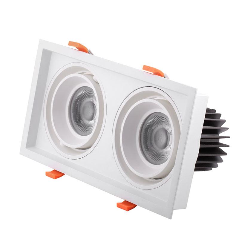 2700/3000/3500/4000/5000/5700K CCT  CRI80/90/97Ra   cob double 30w  grill light