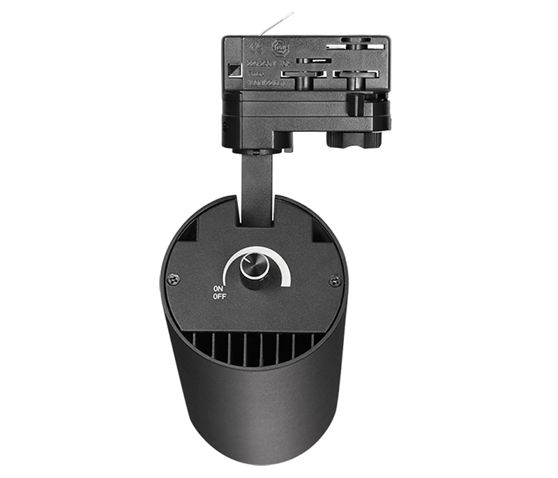 35w potentiometer dimmable led tracklight