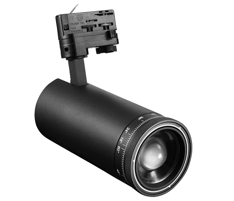 30w zoomable RF remote control dimmable led track spotlight