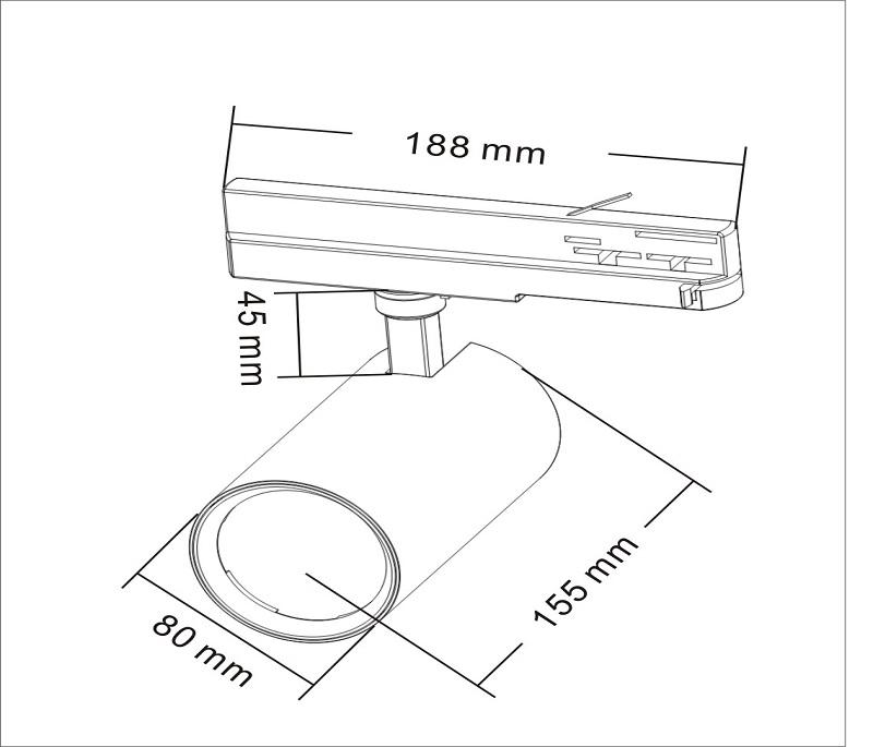30W anti glare ce rhos approval 5 year warranty led tracklight