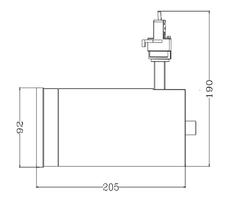 15-60 Degree beam angle adjustable  and Dali dim led tracklight