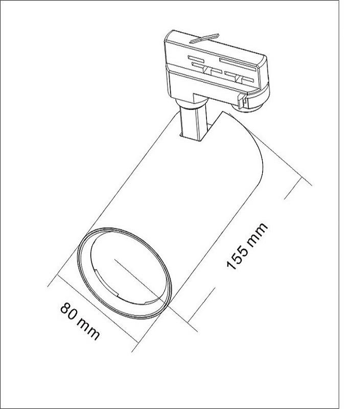 125lm/w 25w track lighting spot light
