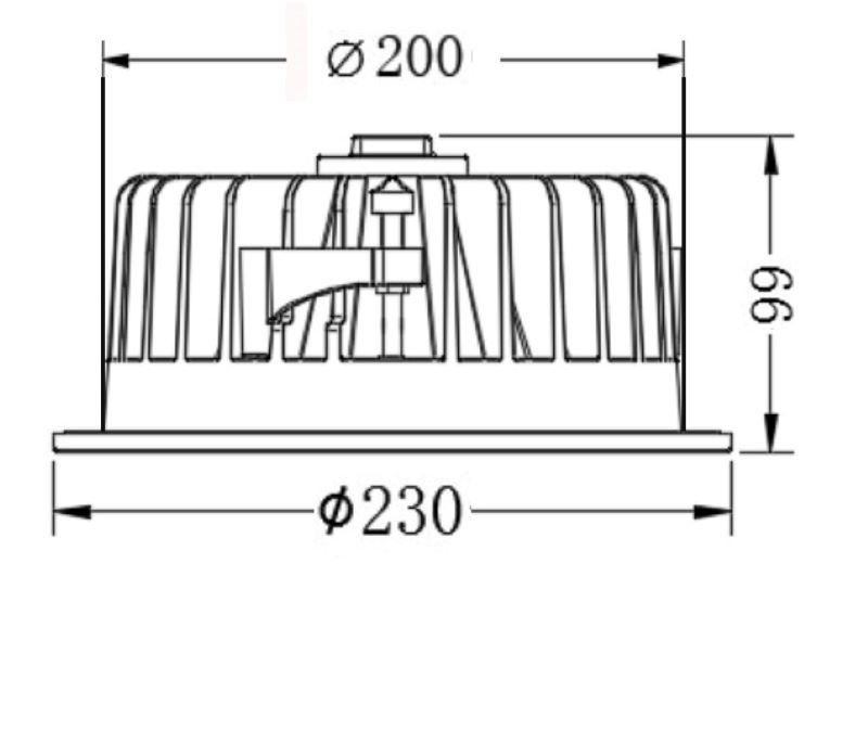 40w COB LED recessed Downlight
