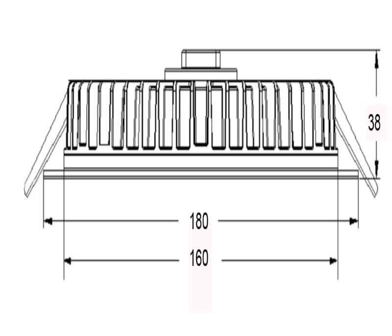 20w led slim panel downlight