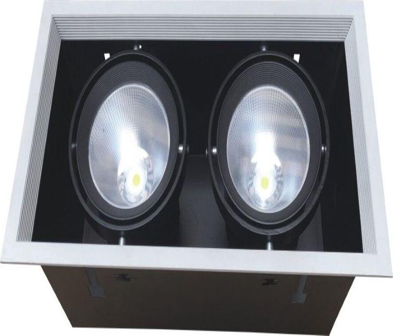 CRI80/90/97Ra COB two heads 30w grille light